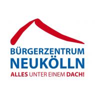 Logo des Bürgerzentrums Neukölln - unter dem Namen des Hauses ein Schriftzug: Alles unter einem Dach!