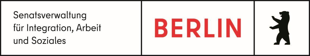 Logo: Gefördert durch die Senatsverwaltung für Integration, Arbeit und Soziales